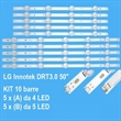 KIT 10 PZ BARRE DI RETROILLUMINAZIONE A LED PER LG AGF78401501
