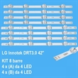 KIT 8 PZ BARRE DI RETROILLUMINAZIONE A LED PER LG AGF78402101